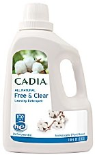 Cadia All Natural Free & Clear Laundry Detergent 2X Concentrated, 100 oz.