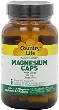 Country Life Magnesium Caps with Silica, 120 vegetarian capsules