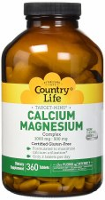 Country Life Target-Mins Calcium Magnesium Complex 1000mg;500mg, 360 tablets