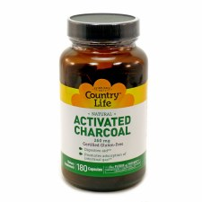Country Life Activated Charcoal 260 mg, 180 capsules