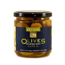 Divina Green Garlic Stuffed Olives, 7.75 oz.