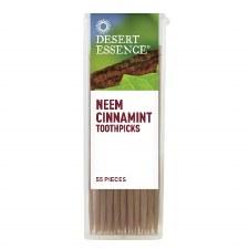 Desert Essence Neem Cinnamint Toothpicks, 55 pieces