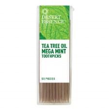 Desert Essence Tea Tree Oil Mega Mint Toothpicks, 55 pieces