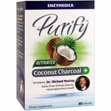 Enzymedica Purify Activated Coconut Charcoal+, 60 capsules