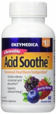 Enzymedica Berry Flavor Acid Soothe, 60 tablets