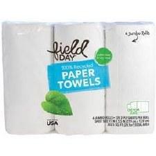 Field Day Organic Paper Towels, 3 rolls