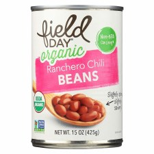 Field Day Organic Ranchero Chili Beans, 15 oz.