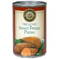 Farmer's Market Organic Sweet Potato Puree, 15 oz.
