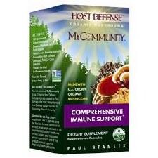 Fungi Perfecti Host Defense MyCommunity Comprehensive Immunity Support, 60 vegetarian capsules