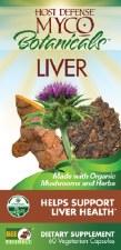 Fungi Perfecti Host Defense Myco Botanicals Liver, 60 vegetarian capsules