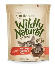 Fruitables Wildly Natural Salmon Cat Treats, 2.5 oz.