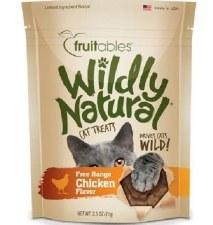 Fruitables Wildly Natural Chicken Cat Treats, 2.5 oz.