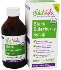 Gaia Herbs Kids Black Elderberry Syrup, 3 oz.