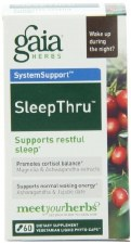 Gaia Herbs Sleep Thru, 60 vegetarian capsules
