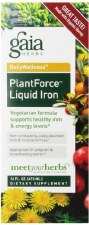 Gaia Herbs PlantForce Liquid Iron, 16 oz.