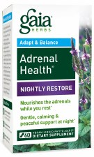 Gaia Herbs Adrenal Health Nightly Restore, 60 vegan liquid phyto-caps