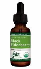 Gaia Herbs Organic Black Elderberry Liquid Herbal Extract, 1 oz.