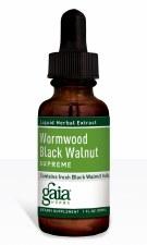 Gaia Herbs Wormwood Black Walnut Supreme, Liquid Herbal Extract, 1 oz.