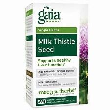 Gaia Herbs Milk Thistle Seed, 60 vegetarian capsules