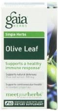 Gaia Herbs Olive Leaf, 60 vegetarian capsules