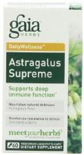 Gaia Herbs Astragalus Supreme, 60 vegetarian capsules
