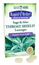 Gaia Herbs Sage & Aloe Throat Shield, 20 lozenges