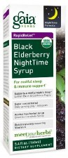 Gaia Herbs Black Elderberry Night Time Syrup, 5.4 oz.