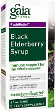 Gaia Herbs Black Elderberry Syrup, 3 oz.