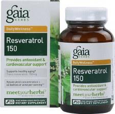 Gaia Herbs Resveratrol 150, 50 vegetarain capsules