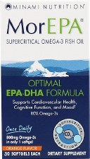 Minami Nutrition MorEPA Omega-3 Fish Oil, 30 softgels
