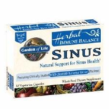 Garden of Life Herbal Immune Balance Sinus, 30 vegetarian capsules