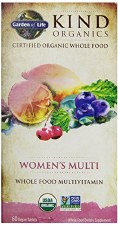 Garden of Life Kind Organics Women's Whole Food Multivitamin, 60 vegan tablets