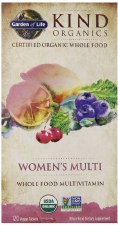 Garden of Life Kind Organics Women's Whole Food Multivitamin, 120 vegan tablets