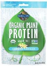 Garden of Life Smooth Vanilla Organic Plant Protein, 9 oz.