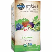 Garden of Life Mykind Organics B Complex Once Daily, 30 vegetarian tablets