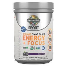 Garden of Life Organic Energy & Focus Pre Workout Blackberry Powder, 15.3 oz.