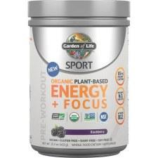 Garden of Life Organic Energy & Focus Pre Workout Blackberry Powder, .5 oz.