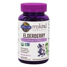 Garden of Life Mykind Organics Elderberry Immune gummys, 120 vegan gummy drops