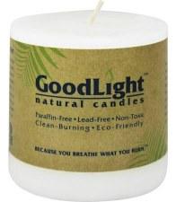 "GoodLight Natural Candles Pillar Candles, 3x3"""