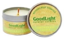 GoodLight Natural Candles Lemongrass Cassia Candle, 2 oz.