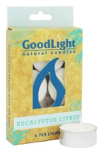 GoodLight Natural Candles Eucalyptus Citrus Tea Lights, 6 count