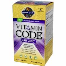 Garden of Life Vitamin Code Raw Zinc, 60 vegie caps