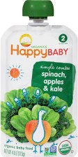 Happy Baby Stage 2 Organic Apple, Spinach, Kale Blend, 4 oz.