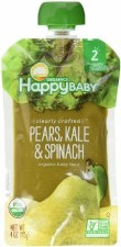 Happy Baby Pears, Kale & Spinach Organic Baby Food, 4 oz.