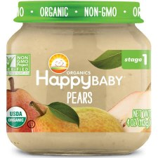 Happy Baby Pears Baby Food, 4 oz.