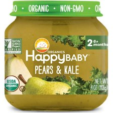 Happy Baby Pears & Kale Baby Food, 4 oz.