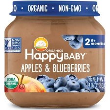 Happy Baby Apples & Blueberrie Baby Food, 4 oz.