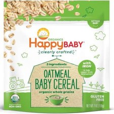 Happy Baby Organic Oatmeal Cereal, 7 oz.