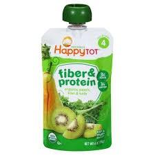 Happy Baby Kiwi,Kale & Pear Stage 4 Fiber & Protein Baby Food, 4 oz.