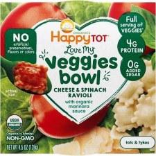 Happy Baby Spinach Marinara Ravioli, 4.5 oz.